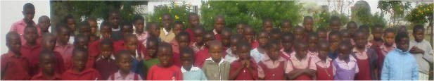 some of the pupils who are being sponsored